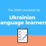 Checklist for the Ukrainian language learners