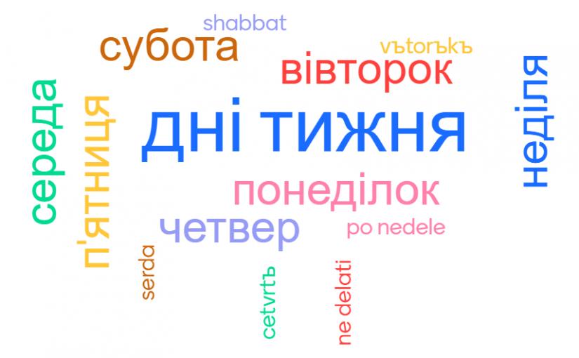 Days of the Week in Ukrainian Language
