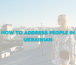 How to Address People in Ukrainian